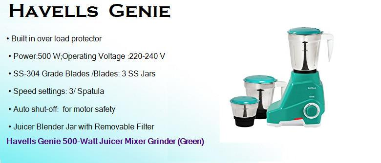 Havels Genie... Image Credits: Review Sellers. Best Mixer Grinder in India