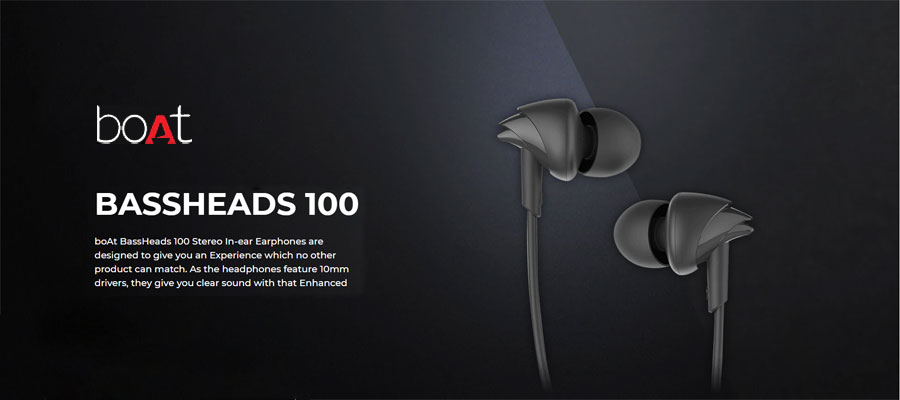 boAt Bassheads 100 Best Earphone under 500