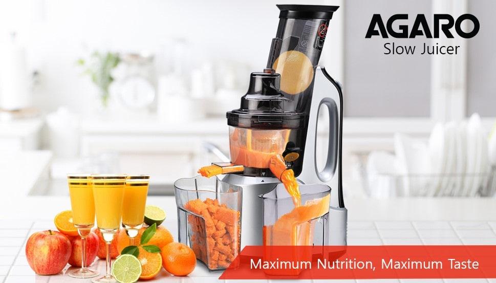 AGARO - 33293 Imperial 240-Watt Slow Juicer | Best Juicers in India