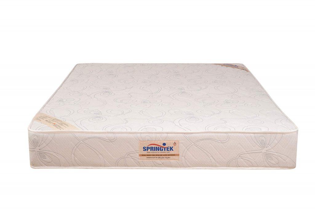 Springtek Dual Comfort Queen Bed High Density Foam Mattress (White, 78x60x6) | Best Mattress in India