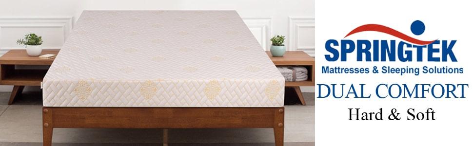 Springtek Dual Comfort 6-inch Queen Size Foam Mattress , Best Mattress in India