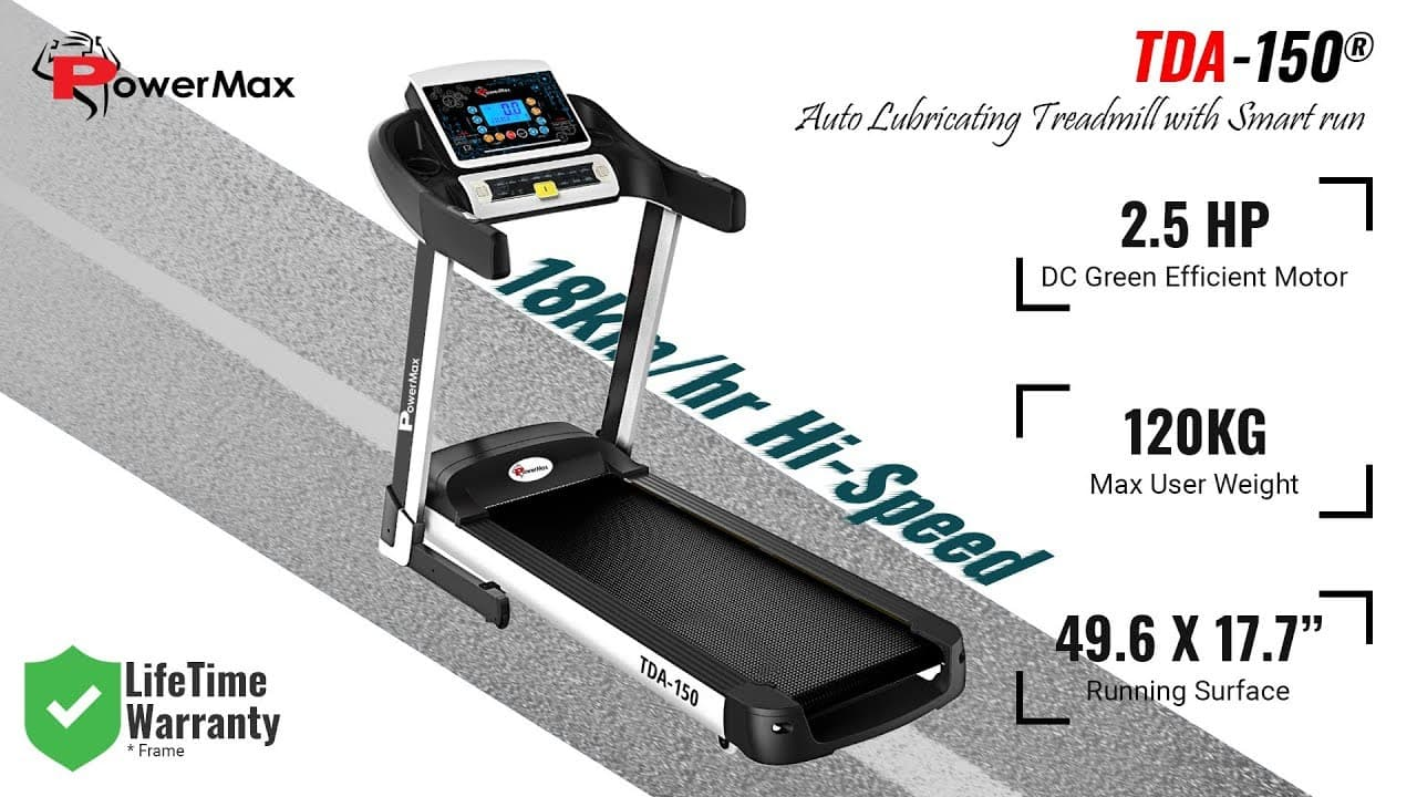 PowerMax Fitness TDA-150 | Best Treadmills in India