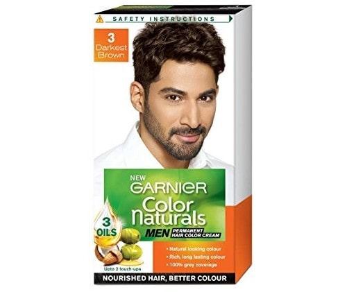 Garnier Color Naturals Men Shade 3 Darkest Brown | Best Hair Color for Men