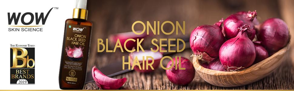 WOW Skin Science Onion Black Seed | Best Hair Oil for Men in India