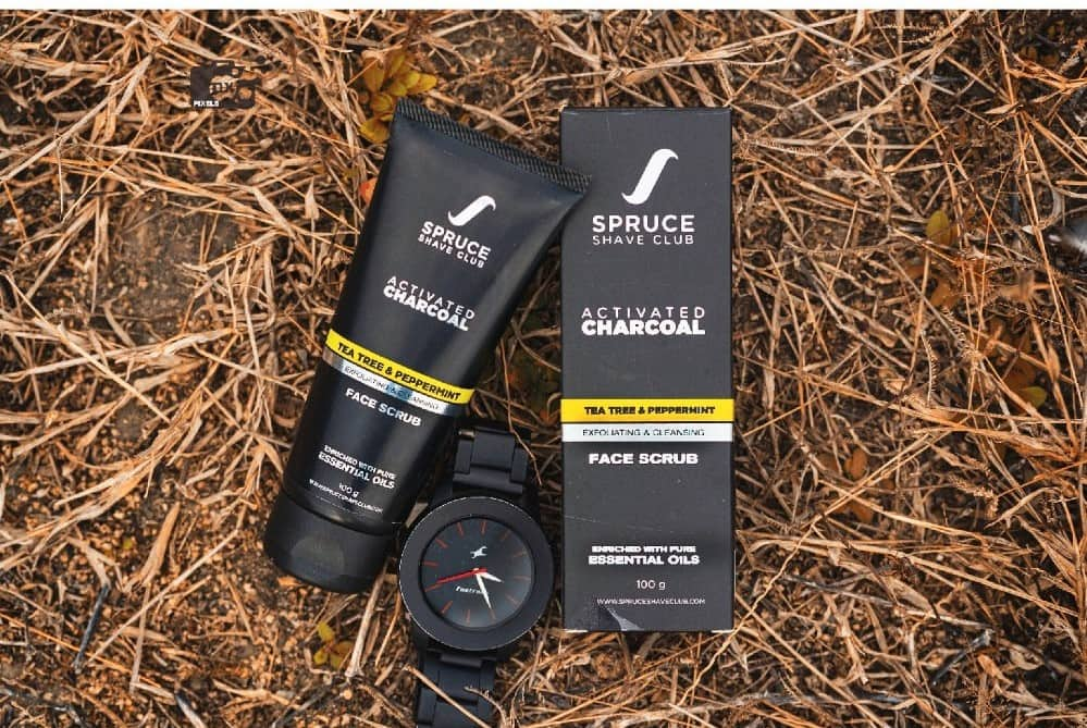 Spruce Shave Club Charcoal Face Scrub | Best Face Scrub for Men