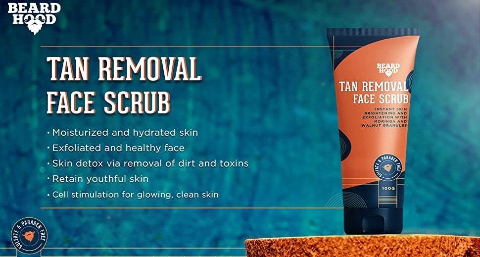 Beardhood face scrub | Best Face Scrub for Men in India