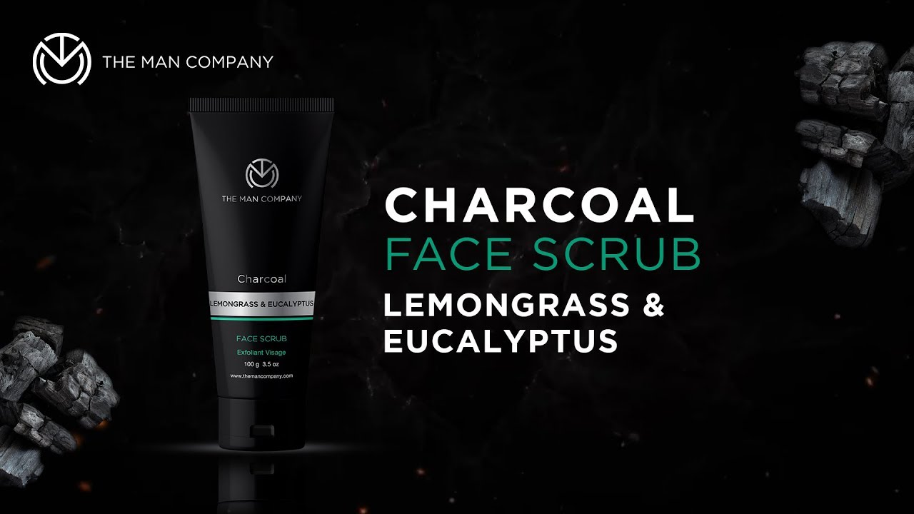 The Man Company Charcoal Face Scrub | Best Face Scrub for Men