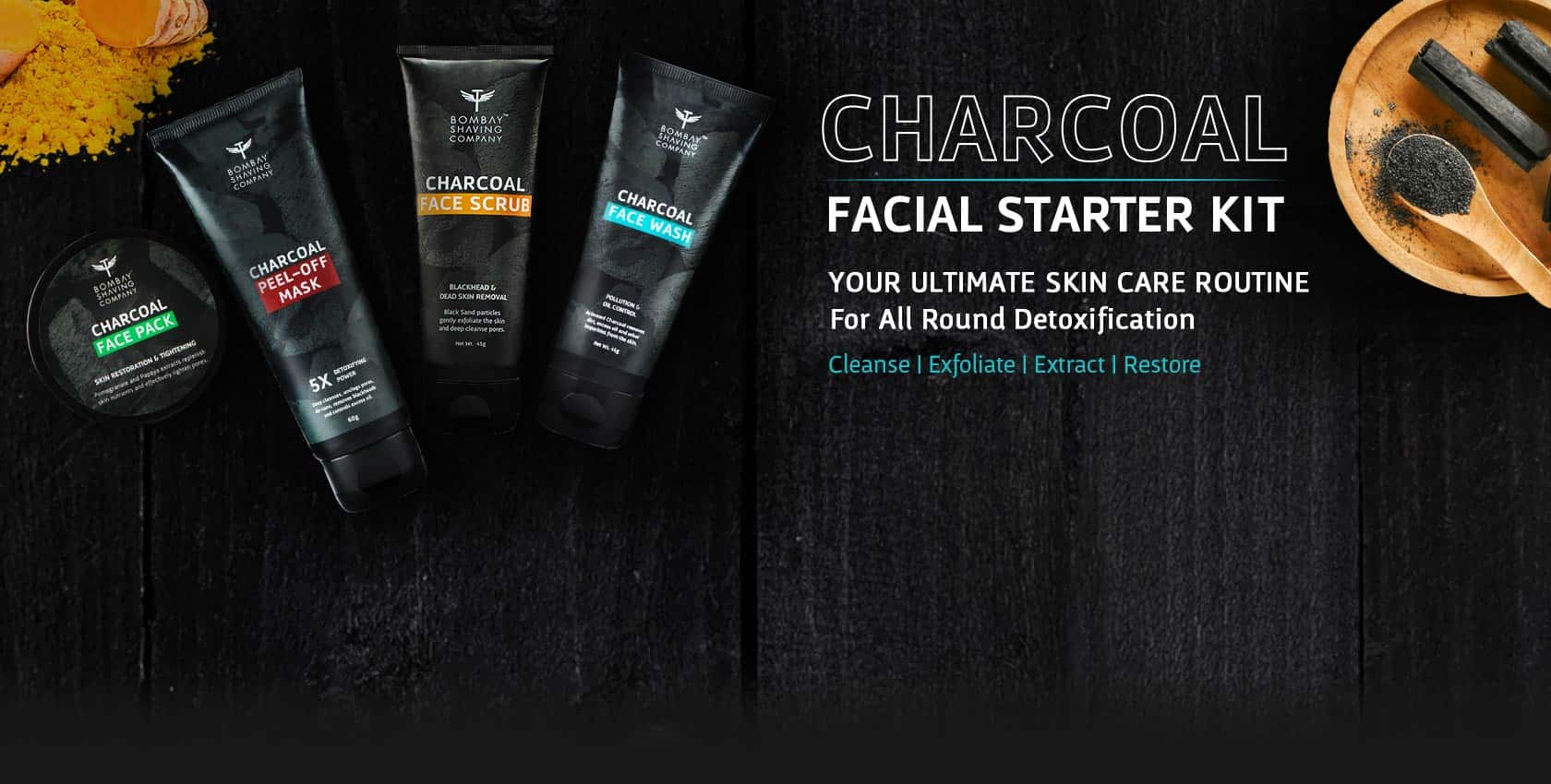 Bombay Shaving Company Charcoal Face Scrub | Best Face Scrub for Men