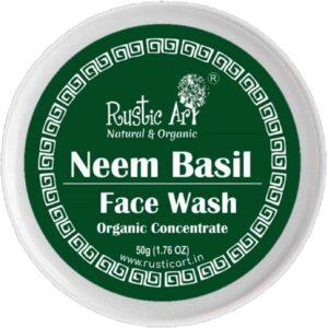 Rustic Art Organic Neem Basil Face Wash   Best Organic Face Wash in India