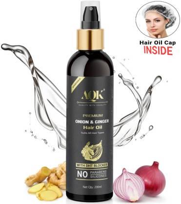 AQK Premium Onion Ginger Pure Ayurvedic Hair Oil |  Best Ayurvedic Hair Oil in India