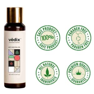 Vedix Customized Ayurvedic Anti-Hairfall Oil for Normal - For Oily Scalp & Straight Hair - Made With Berberis, Banyan And Vetiver | Best Ayurvedic Hair Oil in India