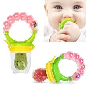 BabyGo Organic Baby's BPA-Free Silicone Nipple Food Nibbler