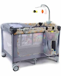 DOTMOM Baby Playpen Portable Playard | Best Baby Folding Bed in India