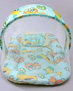 MOM & SON New Born Baby Animals Printed Folding | Best Baby Folding Bed in India