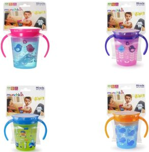 Munchkin Miracle 360 Degree Decorated Trainer Cup   Best Sipper for Babies in India