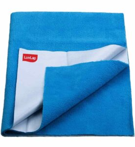 LuvLap Instadry Extra Absorbent Dry Sheet/Bed Protector | Best Baby Bed Protector